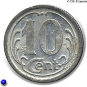 10 Centimes Union Commerciale - Ham [80] – revers