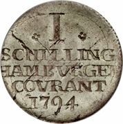 1 Schilling Courant – revers