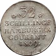 32 Schilling (Hamburg) – revers