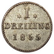 1 Dreiling (Hamburg) – revers