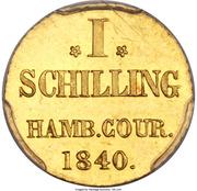 1 schilling (Frappe essai en or) – revers