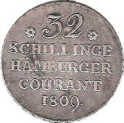 32 Schilling (⅔ Thaler - 2 Mark) – revers