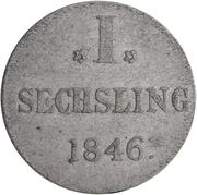 1 Sechsling, 6 Pfennig – revers