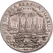 ½ Thaler (Bicentennial of Reformation) – avers