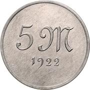 5 Mark (Pattern) – revers