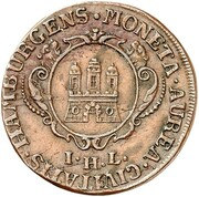 1 ducat (Frappe essai en cuivre) – avers