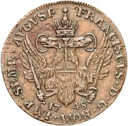 1 ducat (Frappe essai en cuivre) – revers