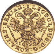 1 Ducat - Leopold I – revers