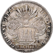 8 Schilling (Hamburg) – avers