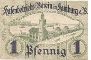 1 Pfennig  (Hamburg - Hafenbetriebsverein) – revers