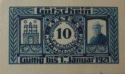 10 Pfennig Hamburg, H. Käse – avers