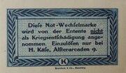 10 Pfennig Hamburg, H. Käse – revers