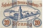 20 Pfennig  (Hamburg - Hafenbetriebsverein) – revers