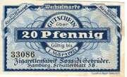 20 Pfenng (Zigarettenfabrik Sossidi Gebrüder) – avers