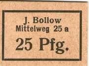 25 Pfennig (J. Bollow Mittelweg 25a) – avers