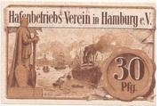 30 Pfennig  (Hamburg - Hafenbetriebsverein) – revers