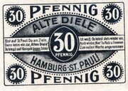 30 Pfennig (Hamburg; Alte Diele) – avers
