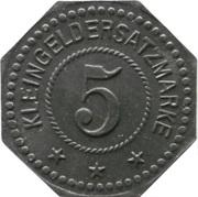 5 pfennig - Hamburg (F.W.L. Poetsch G.M.B.H.) – revers