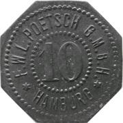10 pfennig - Hamburg (F.W.L. Poetsch G.M.B.H.) – avers