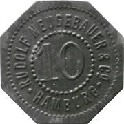 10 pfennig - Hamburg (Rudolf Neugebauer & Co) – avers