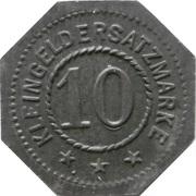 10 pfennig - Hamburg (Rudolf Neugebauer & Co) – revers