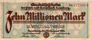 10,000,000 Mark (Hamburg) – avers
