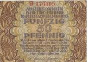 50 Pfennig (Hamburg) – avers