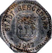 50 pfennig - Bergedorf – avers