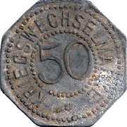50 pfennig - Bergedorf – revers