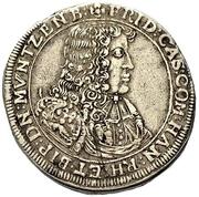 1 gulden - Friedrich Casimir – avers