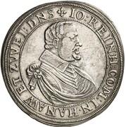 1 thaler Johann Reinhard – avers