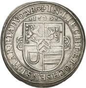 1 thaler Johann Reinhard – revers