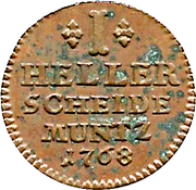 1 Heller - Wilhelm IX – revers