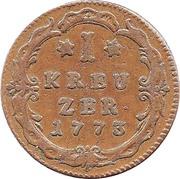 1 Kreuzer - Wilhelm IX – revers