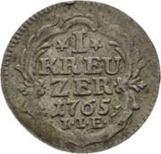 1 kreuzer Wilhelm IX. – revers