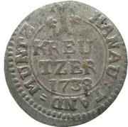 1 Kreuzer - Wilhelm VIII. – revers