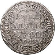 6 albus - Wilhelm VIII. – revers