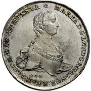 ½ thaler - Wilhelm IX. under guardianship of Maria of England (Konventionshalbtaler) – avers