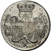 ½ thaler - Wilhelm IX. under guardianship of Maria of England (Konventionshalbtaler) – revers