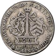 20 kreuzer - Wilhelm IX. under guardianship of Maria of England – avers
