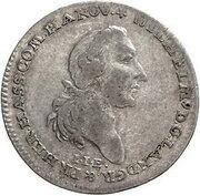20 kreuzer - Wilhelm IX. – avers