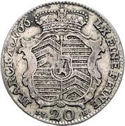 20 kreuzer - Wilhelm IX. – revers