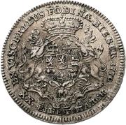 ½ thaler - Wilhelm IX. (1/2 Biberer Ausbeutetaler) – revers