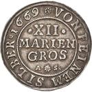 12 Mariengroschen – revers