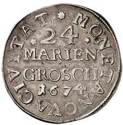 24 Mariengroschen – revers