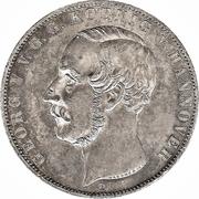 2 Thaler / 3½ Gulden - Georg V – avers