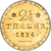 2½ Thaler - Georg III – revers