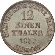 1/12 Thaler - Georg V – revers
