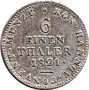 ⅙ Thaler - Georg IV – revers