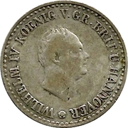 ⅙ Thaler - Wilhelm IV – avers